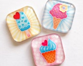 Ice Cream Magnets, Fridge Magnets, Magnets, Ice Cream, Summer, Treats, Food