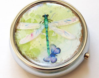 Dragonfly, Pill Box, Pill Case, Case, Pill Container, Bird, Gift for her, Candy container, mint case (635)