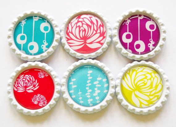 Flower Magnets, Floral Magnets, flower fridge magnet, Fridge Magnets, Bottlecap magnets, bottle cap magnets, Floral, Flower, Abstract