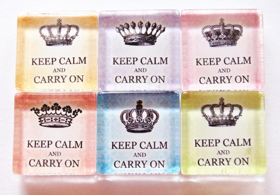 Keep Calm Magnets, Fridge Magnets, Magnets, Keep Calm Carry On, Pastel Colors