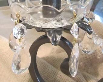 Vintage Tear Drop Chandelier Crystals Set of 5
