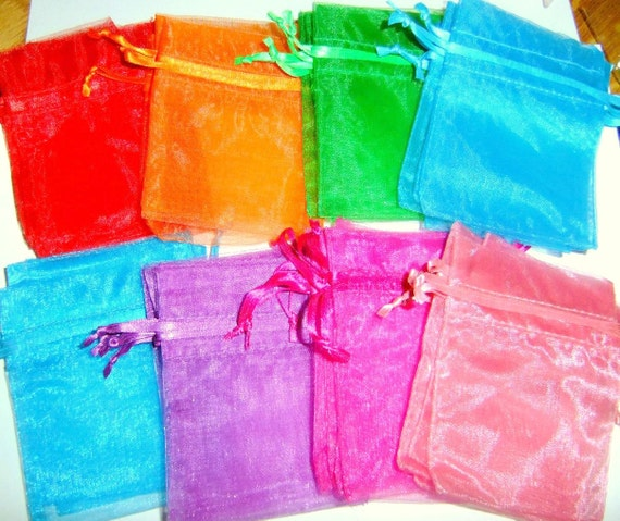 3 Dozen Assorted Organza Bags Shipping Only 2.75