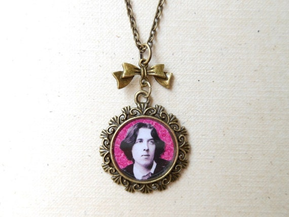 Oscar Wilde Necklace - Antique Bronze with 24 inch chain - The Finest Dandy