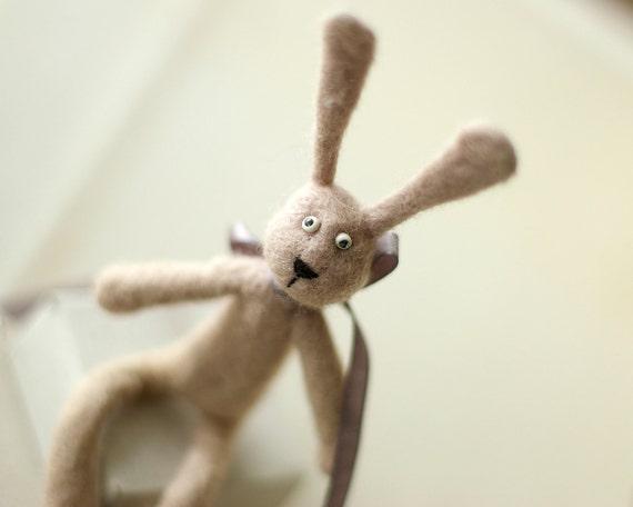 Felt Rabbit Toy - handmade bunny rabbit felted animals toys - ready to ship