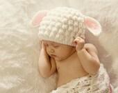 PDF Pattern Baby Lamb Hat - Crochet Custom Photography Prop