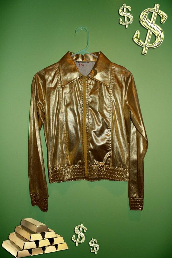 Gold Lamé Bomber Jacket