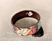 Swan / Bird Decoupage Bracelet / Bangle / Cuff