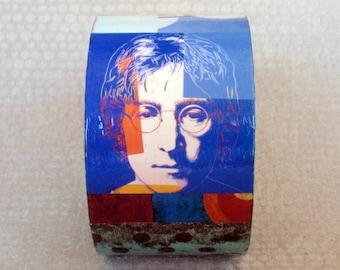 John Lennon/ Blue Man Decoupage Bracelet / Bangle / Cuff