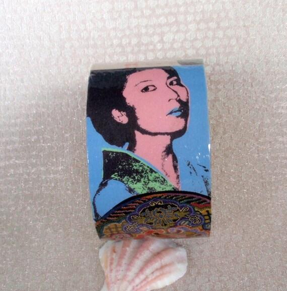 Kimono Power Decoupage Bracelet / Bangle / Cuff