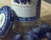 100% Organic Beeswax Candle in Blueberry Jam jar, Kitchen Series