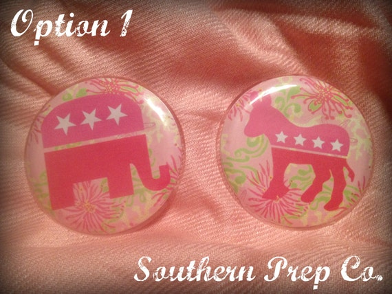 Lilly Inspired Republican or Democrat Pin