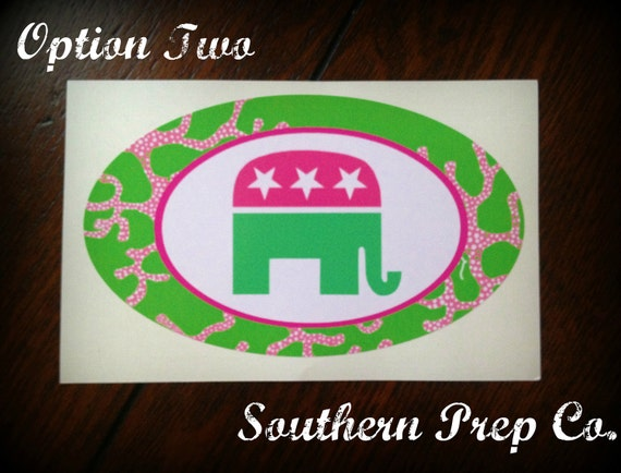 Preppy Republican Bumper Sticker