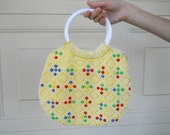 AWESOME 60s Beaded Bag // vintage
