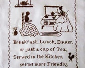 Vintage Cross Stitch Kitchen Sampler