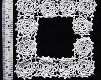 Vintage Crocheted Lace Insertion for Doll Dress Neckline