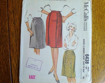Uncut Vintage McCall's Sewing Pattern - a skirt from 1962