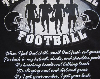 Unisex The Boys of Fall Football Short Sleeve T-Shirt W/O Personalization Sizes S-4X in Most Team Colors