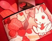 Strawbunny Delight Zipper Bag