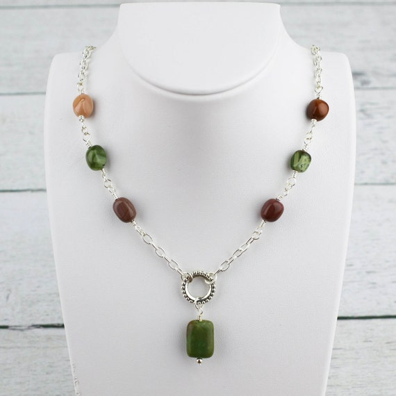 Jade and Jasper Extra Long Necklace