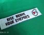 Super Mario P Wings Book Mark Rise Above Your Enemies Cross Stitch