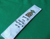 Star Wars YODA Book Mark Haters Gonna Hate Cross Stitched Bookmark