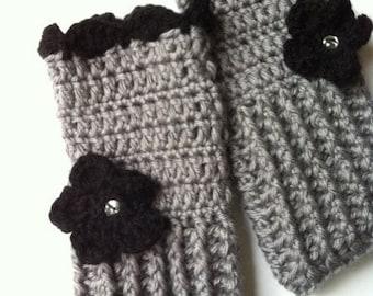 Fingerless gloves, Crochet wrist warmer fingerless gloves
