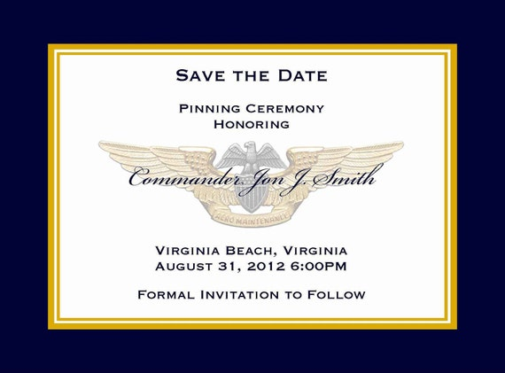 Army Wedding Invitations: Military Save The Date Invitation / Announcement: Promotion