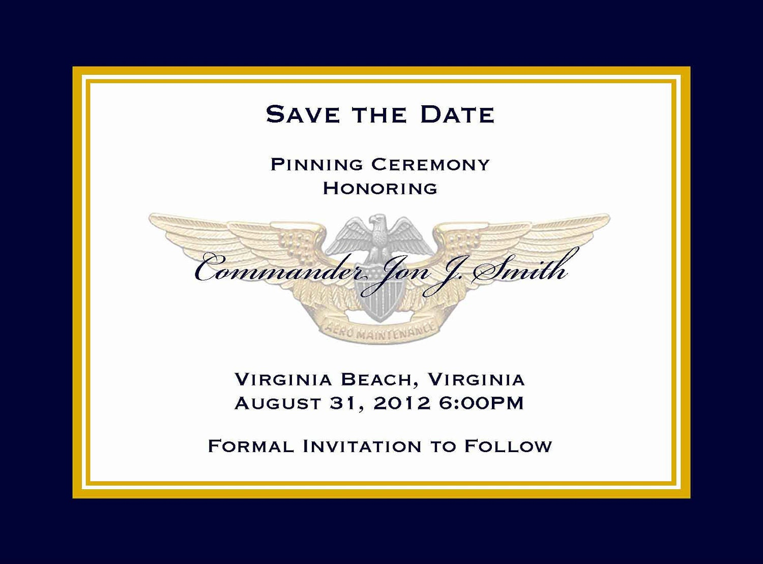 Military Retirement Party Invitations with nice invitations template