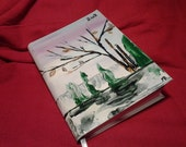 DIARY / CALENDAR of 2012 handpainted cover with oil-colors