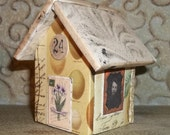Miniature Paper House Collection House Display Miniature House Collage Collectible House No. 24