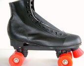 Vintage 1970s black Champhionship roller skates 9 NWT
