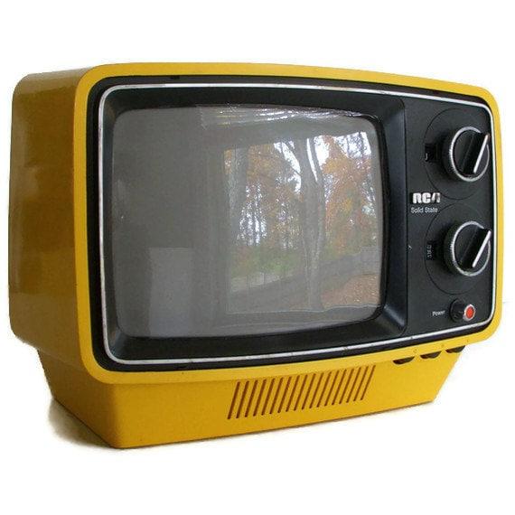 Best Portable Tv For Hurricane Portable Greenhouse Cold Frame Portable Dishwasher Saskatoon Portable Steel Straw: Items Similar To Vintage 1974 Yellow RCA Portable