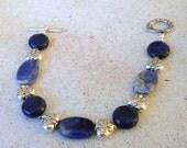 Fantastic lapis lazuli and sodalite bracelet