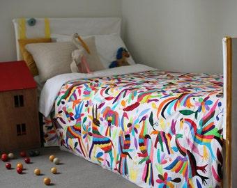OTOMI FABRIC  Made To Order - Multi Colour Animal, Bird & Plant Design