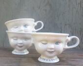 Vintage Baileys Winker Teacups Set of 3