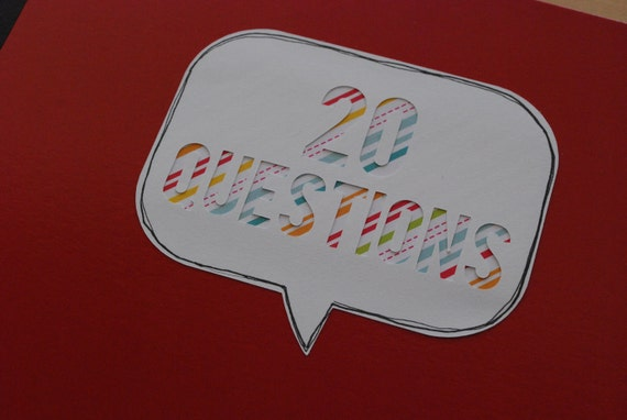 20 Questions : A RED Birthday Interview Album for Kids (2nd Edition)