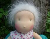 """Waldweide Waldorf inspired baby doll """"Ellie"""" 18 inch/45cm organic wool plant-dyed yarn"""