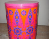 Vintage 70's MultiColour Tin