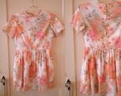 repurposed 1960s floral dress