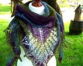 Colorful (violet-blue-green) shawl