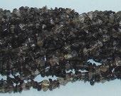 """Smoky Quartz Chip Gemstone Beads - 35"""" Strand"""