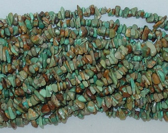 "Turquoise Chip Gemstone Bead - 34"" Strand"