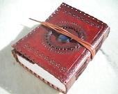 Lapis Lazuli centerstone leather journal