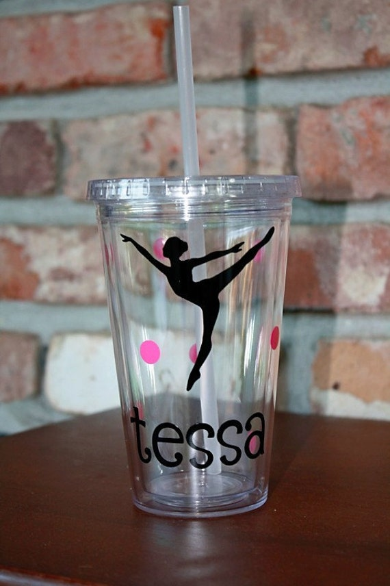 Dancer 16oz Acrylic Tumbler with Name