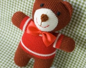 Baby Theo, knitted Teddy Bear - Free Worldwide Shipping