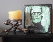 Original Block Art Frankenstein Vintage Halloween