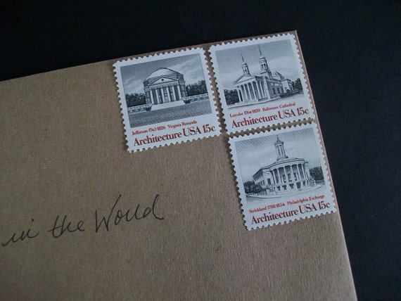 Unused Vintage Postage Stamps - Architecture