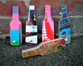 Bottle Opener- Handmade from Skateboard deck- recycled- upcycled-Beer Bottle Opener