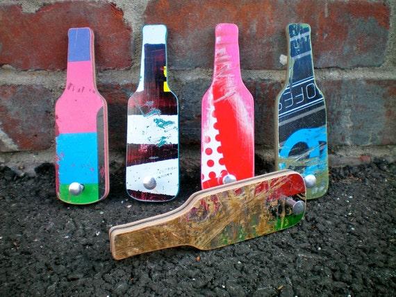 Bottle Opener- Handmade from Skateboard deck- recycled- upcycled-Beer Bottle Opener