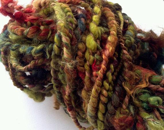 Autum Shades - Handspun Alpaca, Silk & Mohair